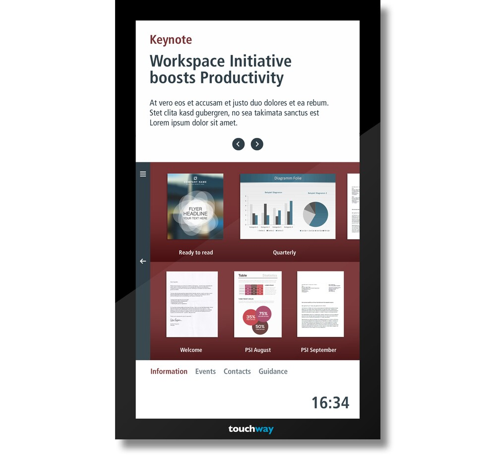 A-1 Auto Sales >> Interactive bulletin board for employee information point